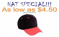 HAT SPECIAL As low as $4.50 - Click for details
