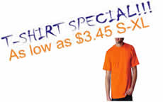 TSHIRT SPECIAL As low as $3.45 - Click for details